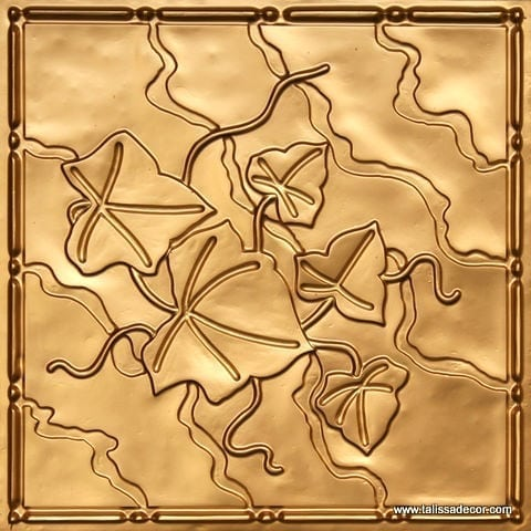 202 Gold Faux Tin Ceiling Tile