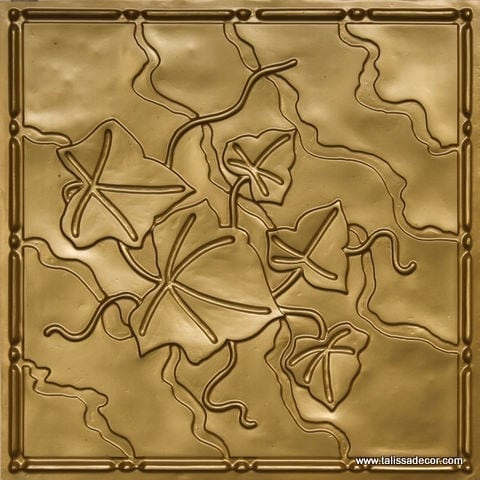 202 Brass Faux Tin Ceiling Tile
