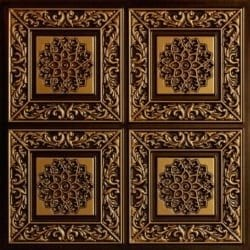 203 Antique Gold Faux Tin Ceiling Tile