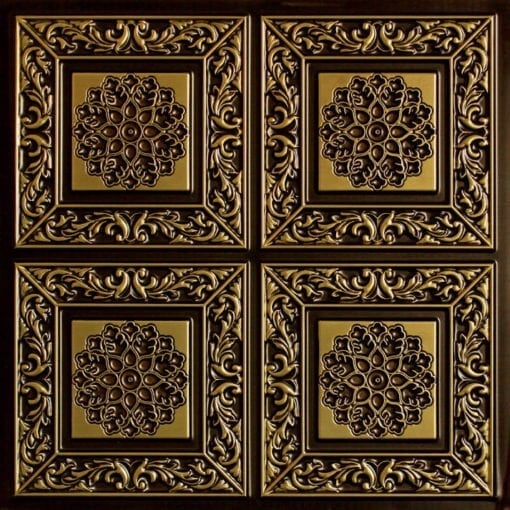 203 Antique Brass Faux Tin Ceiling Tile