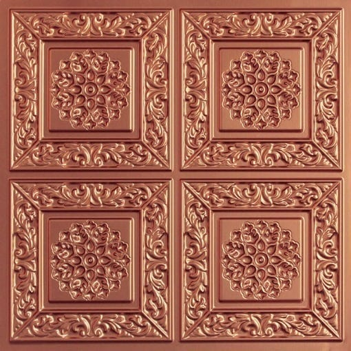 203 Copper Faux Tin Ceiling Tile