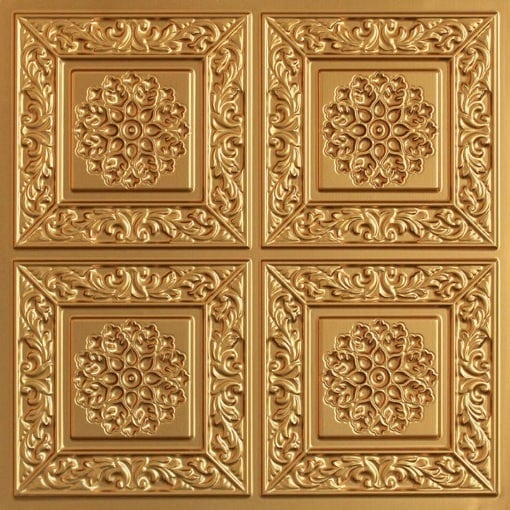 203 Gold Faux Tin Ceiling Tile