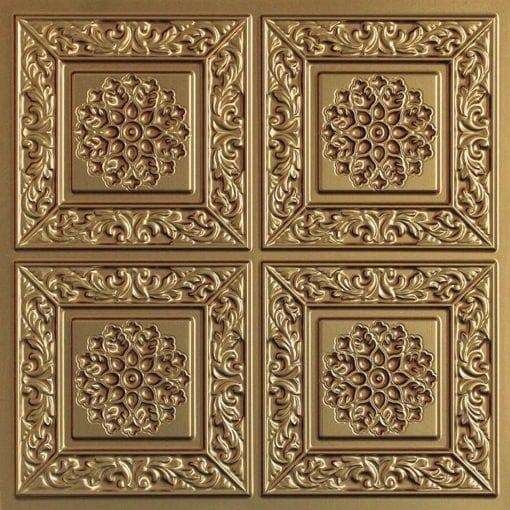 203 Brass Faux Tin Ceiling Tile