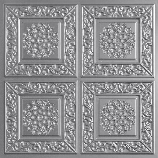203 Silver Faux Tin Ceiling Tile