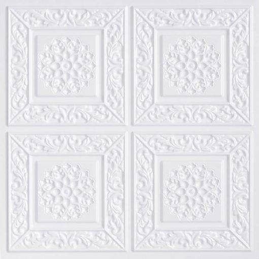 203 White Pearl Faux Tin Ceiling Tile
