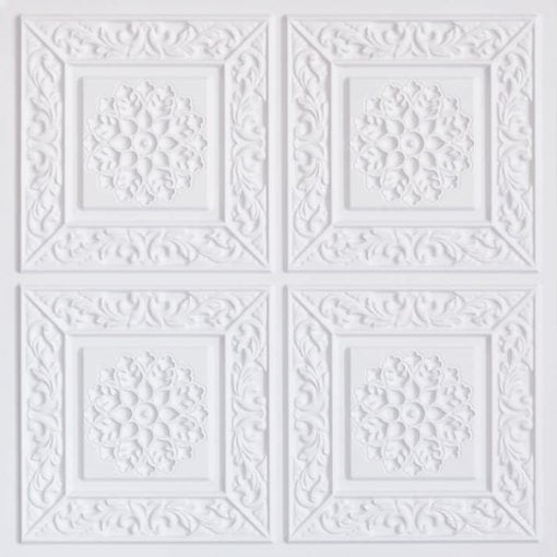 203 White Matte Faux Tin Ceiling Tile