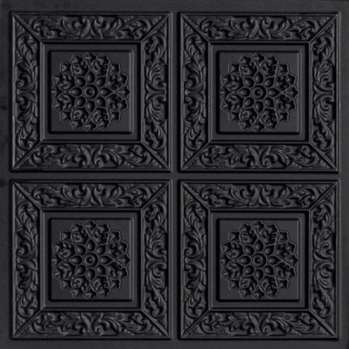 203 Black Matte Faux Tin Ceiling Tile