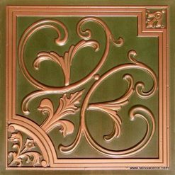 204 Patina Copper Faux Tin Ceiling Tile