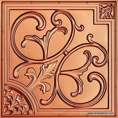 204 Copper Faux Tin Ceiling Tile