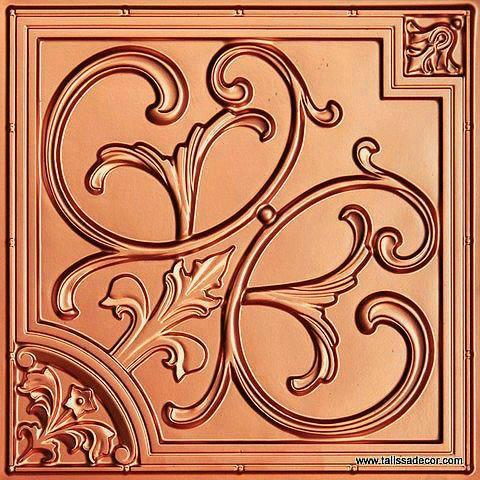 204 Copper Faux Tin Ceiling Tile