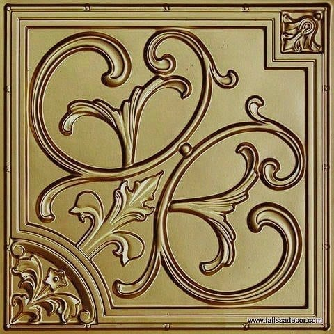 204 Brass Faux Tin Ceiling Tile
