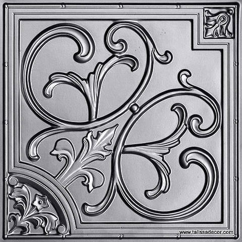 204 Silver Faux Tin Ceiling Tile