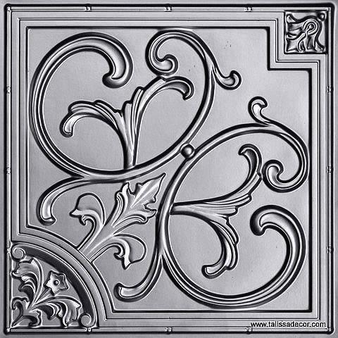 204 Silver Faux Tin Ceiling Tile