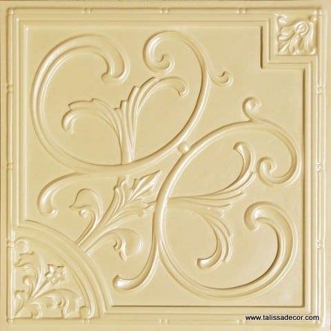 204 Cream Pearl Faux Tin Ceiling Tile