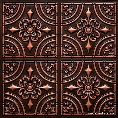 205 Antique Copper Faux Tin Ceiling Tile