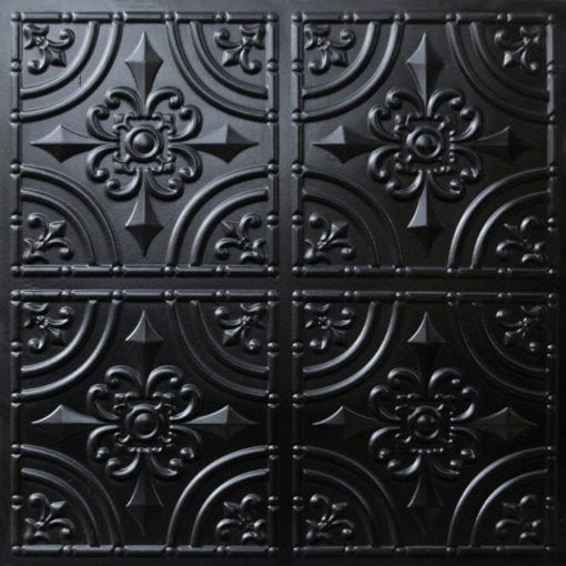 205 Black Glossy Faux Tin Ceiling Tile