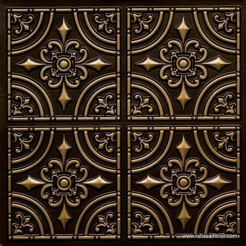 205 Antique Brass Faux Tin Ceiling Tile