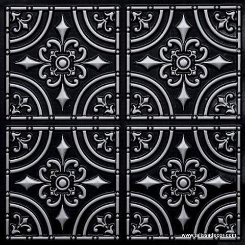 205 Antique Silver Faux Tin Ceiling Tile