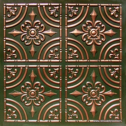 205 Patina Copper Faux Tin Ceiling Tile