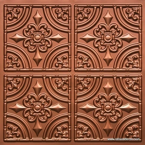 205 Copper Faux Tin Ceiling Tile