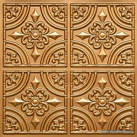 205 Gold Faux Tin Ceiling Tile
