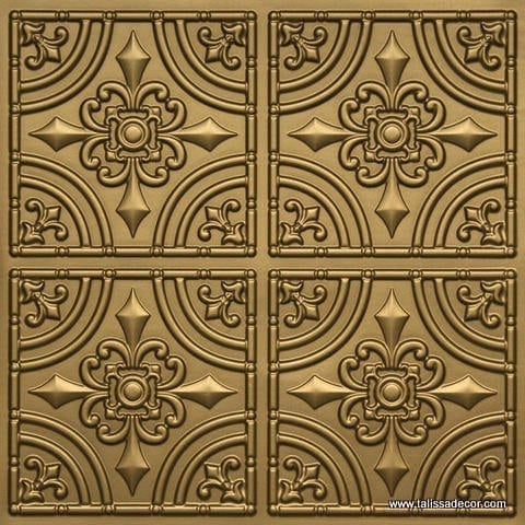 205 Brass Faux Tin Ceiling Tile