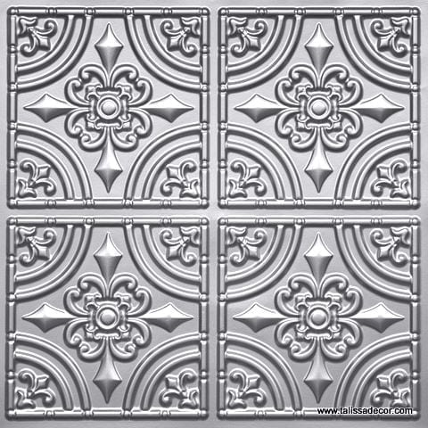 205 Silver Faux Tin Ceiling Tile
