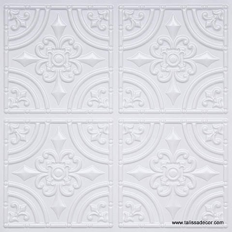 205 White Pearl Faux Tin Ceiling Tile