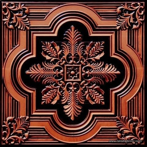 206 Antique Copper Faux Tin Ceiling Tile