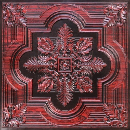 206 Antique Rosewood Faux Tin Ceiling Tile