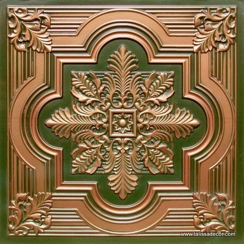 206 Patina Copper  Faux Tin Ceiling Tile