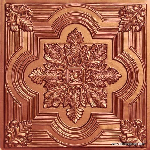 206 Copper Faux Tin Ceiling Tile