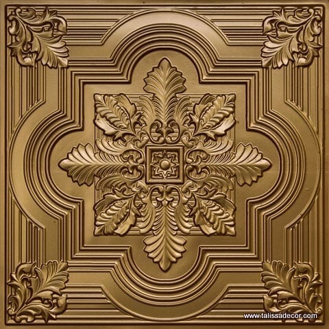 206 Brass Faux Tin Ceiling Tile