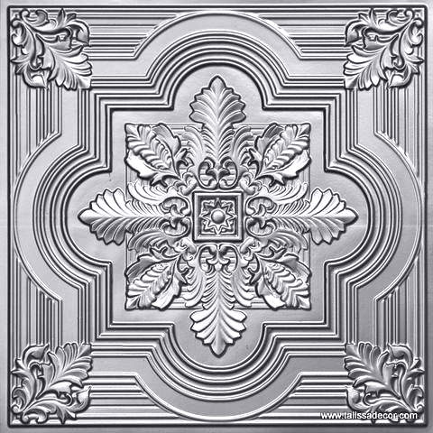 206 Silver Faux Tin Ceiling Tile