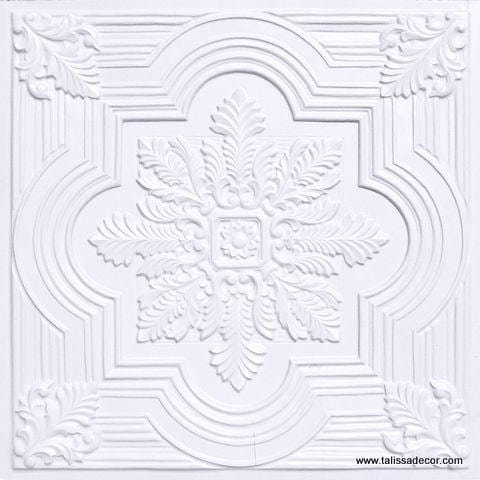 206 White Pearl Faux Tin Ceiling Tile