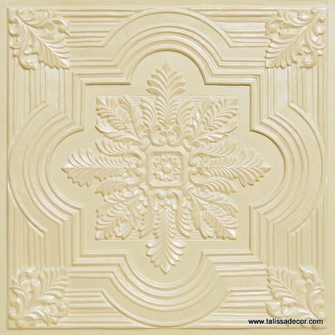 206 Cream Pearl Faux Tin Ceiling Tile