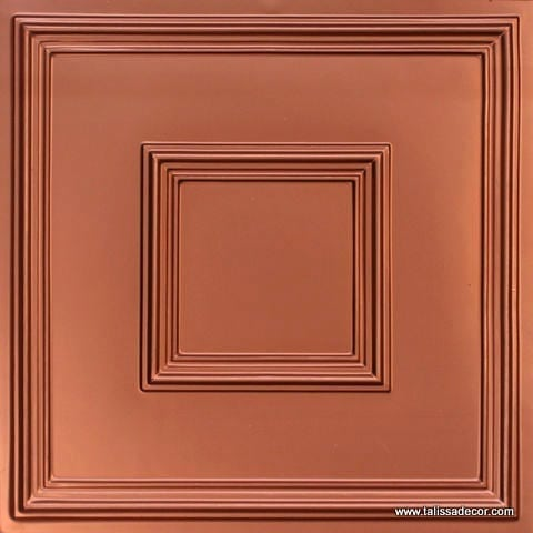 208 Copper Faux Tin Ceiling Tile