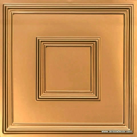 208 Gold Faux Tin Ceiling Tile