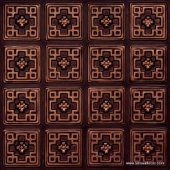 103 Antique Copper Faux Tin Ceiling Tile