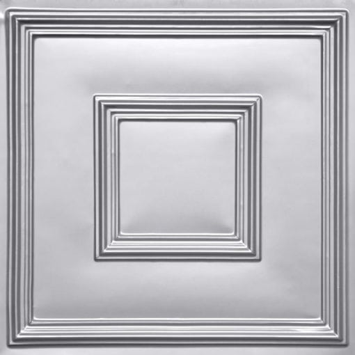 208 Silver Faux Tin Ceiling Tile