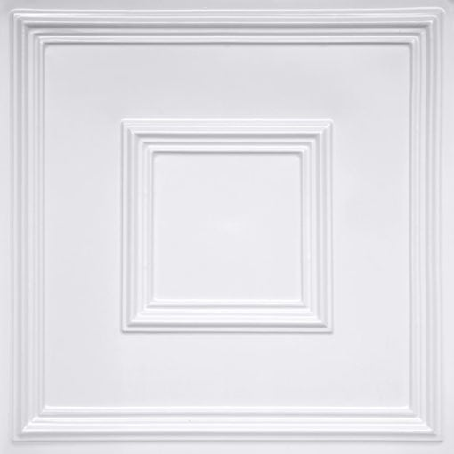 208 White Pearl Faux Tin Ceiling Tile