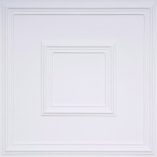 208 White Matte Faux Tin Ceiling Tile