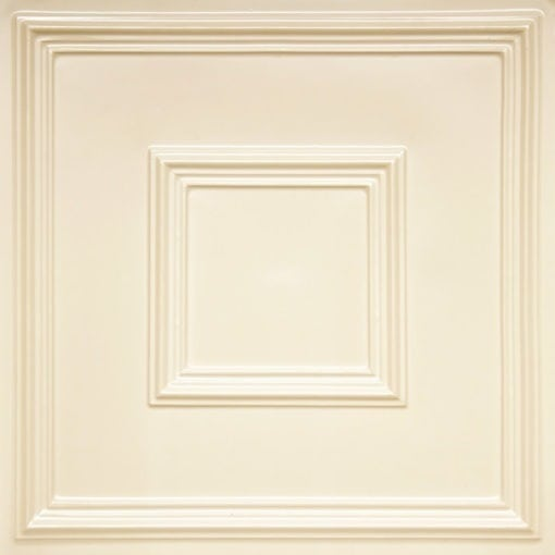 208 Cream Pearl Faux Tin Ceiling Tile