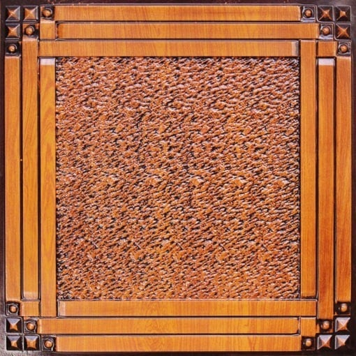 209 Antique Teakwood Faux Tin Ceiling Tile