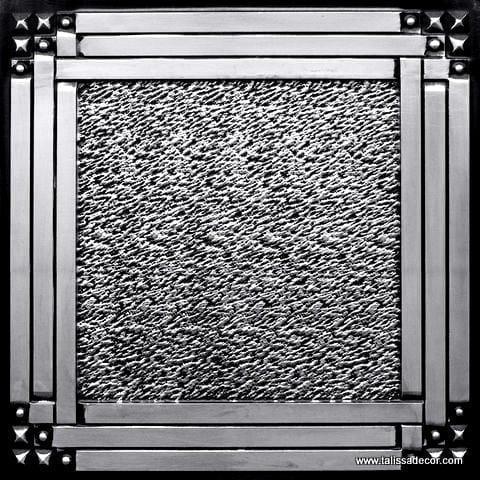 209 Antique Silver Faux Tin Ceiling Tile