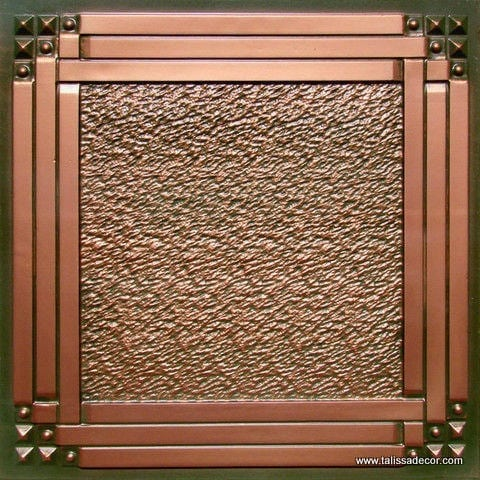 209 Patina Copper Faux Tin Ceiling Tile