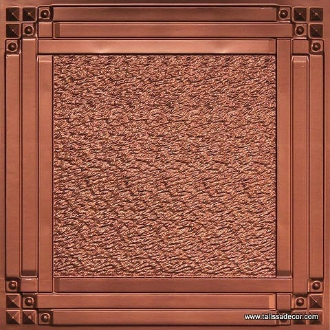 209 Copper Faux Tin Ceiling Tile