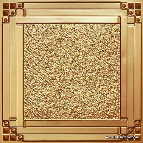209 Gold Faux Tin Ceiling Tile