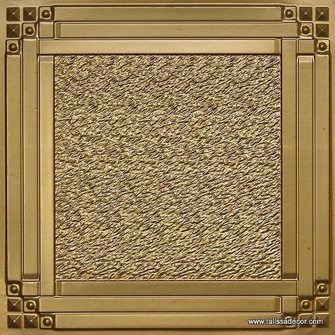 209 Brass Faux Tin Ceiling Tile