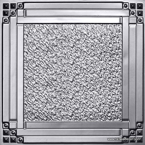 209 Silver Faux Tin Ceiling Tile